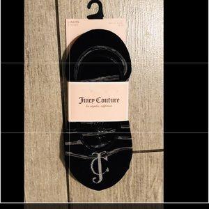 Juicy couture 3 pairs of footie socks